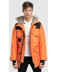 Lacoste - Unisex Live Water-resistant Canvas Quilted Parka - Lyst