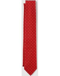 Mirto - Red Silk Tie With Tiny Polka Dot Print - Lyst
