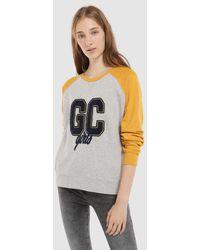 Green Coast - Two-tone Sweatshirt With Front Print - Lyst