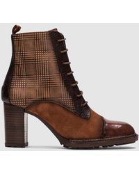 Hispanitas - Brown Leather And Suede Boots - Lyst