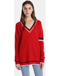 Green Coast - Oversized V-neck Sweater - Lyst