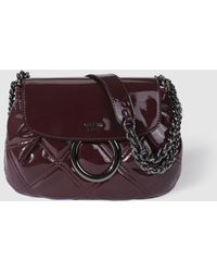 afd9d888455c ... Guess - Burgundy Shoulder Bag With Patent Leather Finish - Lyst cheap  for discount f7de8 d0209 ...