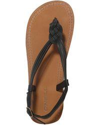 997665bc205 O neill Sportswear - Oneill Braided Ditsy Beach Sandals - Lyst