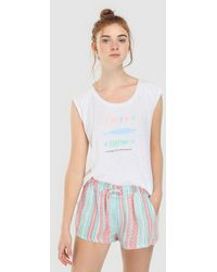Green Coast - Printed Shorts With A Drawstring Waist - Lyst