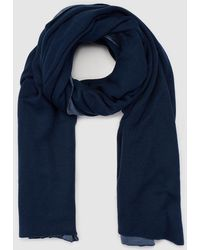 El Corte Inglés - Navy Blue And Pale Blue Maxi Scarf - Lyst