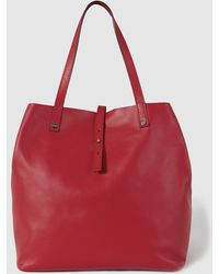 Gloria Ortiz - Sofia Red Leather Shopper Bag With A Medium Strap - Lyst