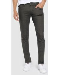 Emporio Armani - Slim-fit Green Five-pocket Trousers - Lyst