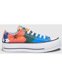 cde6c9c47da Converse - Chuck Taylor Multicoloured Floral Print Canvas Sneakers - Lyst