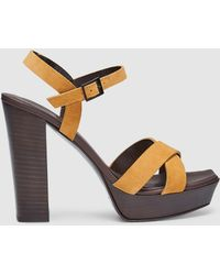 e3decf5d64d1 Lyst - Tory Burch Linley Espadrille Wedge Mustard in Yellow