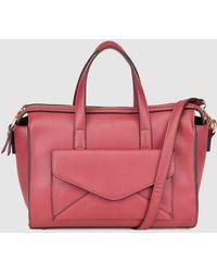 El Corte Inglés - Burgundy Bowling Bag With Envelope Pocket - Lyst