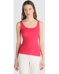 Lauren by Ralph Lauren - Fuchsia Sleeveless T-shirt - Lyst