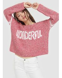 Green Coast - Long Sleeve Jumper With Slogan - Lyst