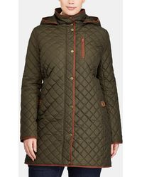 Denim & Supply Ralph Lauren - Plus Size Khaki Quilted Parka - Lyst