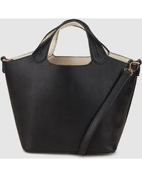 a89a8d03a0a9dc El Corte Inglés - Small Black Handbag With Removable Toiletry Bag - Lyst