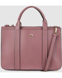 El Corte Inglés - Medium Dark Pink Handbag With Front Strap With Top Stitching - Lyst