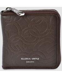 Gloria Ortiz - Miriam Small Brown Embossed Leather Wallet - Lyst