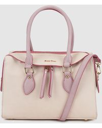 Robert Pietri - Ecru Bowling Bag With Contrasting Polished Details - Lyst