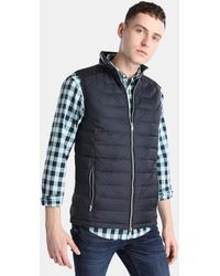 Green Coast - Reversible Navy Blue Gilet - Lyst