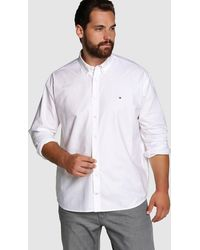 Tommy Hilfiger - Big And Tall Plain-coloured White Shirt - Lyst