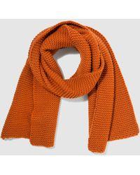 El Corte Inglés - Orange Knitted Scarf - Lyst