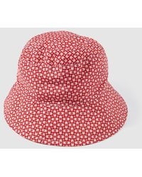 Jo & Mr. Joe - Wo Red Printed Rain Hat - Lyst