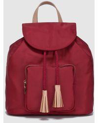El Corte Inglés - Wo Maroon Nylon Backpack With Flap - Lyst