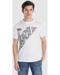 Emporio Armani - White Short Sleeve T-shirt - Lyst