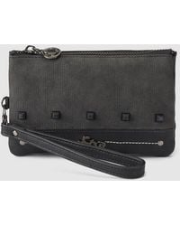 Caminatta - Black Pouch With Matching Studs - Lyst