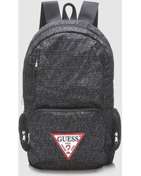 Guess - Mens Black Geometric Print Backpack - Lyst