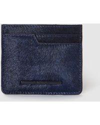 Jo & Mr. Joe - Wo Navy Blue Leather Card Holder - Lyst