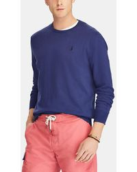 Polo Ralph Lauren - Blue Sweater With A Round Collar - Lyst