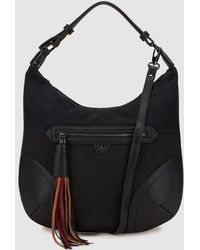 Pepe Moll - Black Hobo Bag With Outer Pocket - Lyst