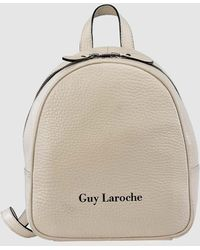 PB 0110 Matte White Small Leather Backpack in White - Lyst 3660dc233eeba