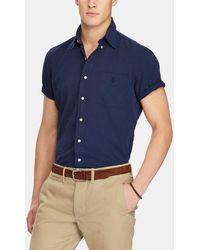 Polo Ralph Lauren | Regular-fit Plain Blue Shirt | Lyst