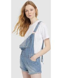 9ba71c0227c Green Coast - Wo Striped Denim Dungarees - Lyst