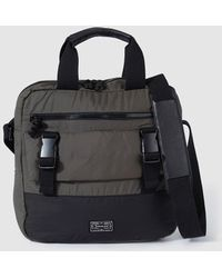 Jo & Mr. Joe | Mens Grey Messenger Bag With A Short Double Strap | Lyst