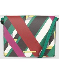 Jo & Mr. Joe - Gossip Small Crossbody Bag With Multicoloured Stripes Print - Lyst