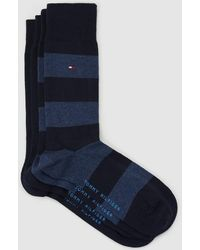 Tommy Hilfiger - Pack Of 2 Pairs Of Plain And Striped Socks - Lyst