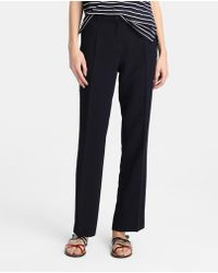 Zendra El Corte Inglés - El Corte Inglés Zendra Basic Navy Blue Trousers - Lyst