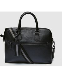 Polo Ralph Lauren - Small Black Leather Travel Bag - Lyst