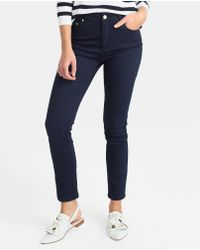 Yera - Navy Blue Skinny Jeans - Lyst