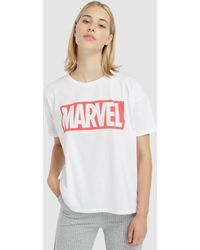 328e7cec31432 Lyst - Uniqlo Women Marvel Collection Short Sleeve Graphic T-shirt ...