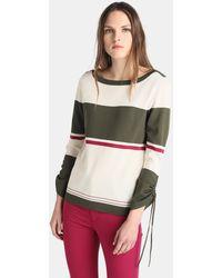 Zendra El Corte Inglés - El Corte Inglés Zendra Printed Long Sleeve Sweater - Lyst