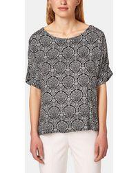 Esprit - Short Sleeve Printed Blouse - Lyst
