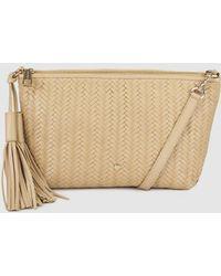 3b7ee6d87a Gloria Ortiz - Bella Braided Camel Leather Cross-body Bag With Zip - Lyst