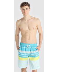 Green Coast - Blue Striped Swim Trunks - Lyst
