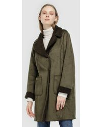 indi & cold - Long Green Coat With Two Sides - Lyst