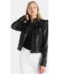 Guess - Animal Print Quilted Coat - Lyst