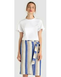 Yera - Striped Wrap Skirt - Lyst