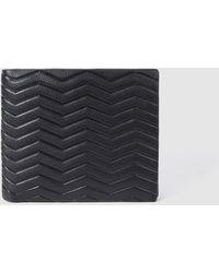 Jo & Mr. Joe - Black Leather Wallet With Embossing - Lyst